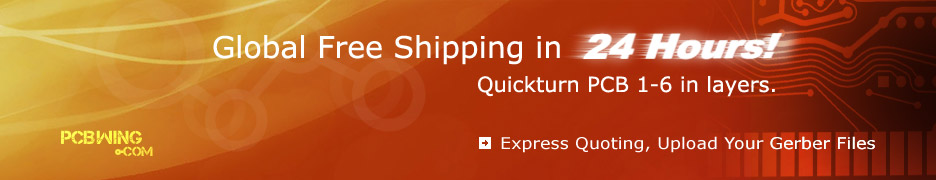 Global Free Shipping In 24 Hours! Quickturn PCB 1-6 in layers.